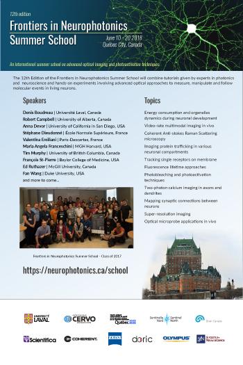 Frontiers in neurophotonics 2018 Summer school
