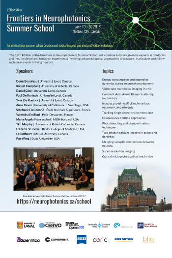 Frontiers in neurophotonics 2018 Summer school