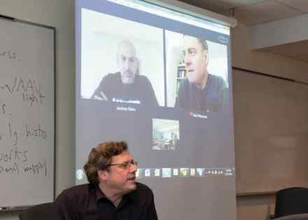 Jaideep Bains and Paul Wiseman join by video-conference