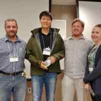 3rd place: Fiber photometry (Tutors Christophe Proulx and Ekaterina Martianova)  Students : Chulmin Cho and Ellen Koch