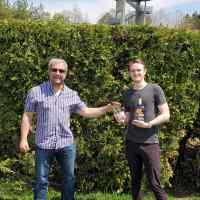 Mini-project first prize winner Owen Ferguson